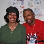 Ron Bellamy with his fiancée Jacqueline Dixon after a cardiac stress test at The Brooklyn Hospital Center