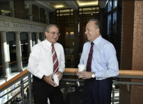 Carlos P. Naudon, chairman of the Brooklyn Hospital Center, and Gary G. Terrinoni, president and CEO