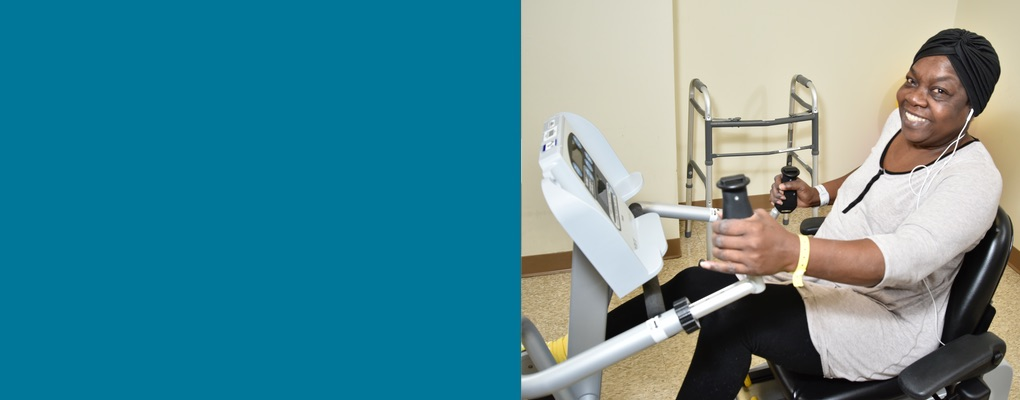 6.	A Physical Therapy patient uses a machine purchased through funds raised from the Foundation's Annual Campaign.