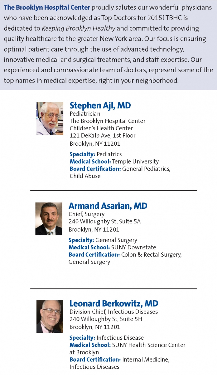 Top doctors for 2015 the brooklyn hospital center top doctors for 2015 1betcityfo Image collections