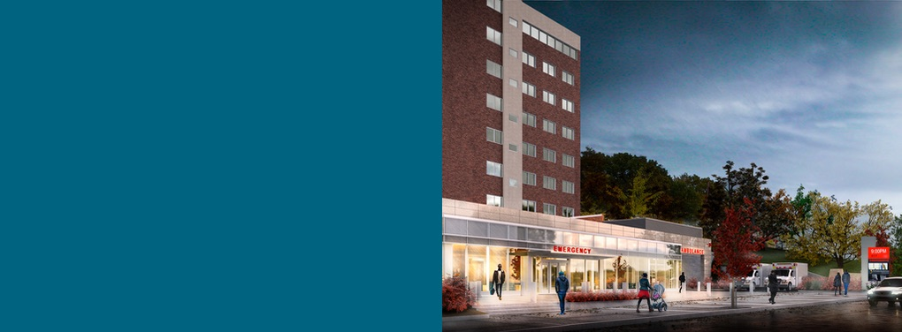 Rendering of new TBHC Emergency Room