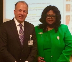 Gary G. Terrinoni, TBHC President and CEO, and Kim Best, PhD, new Chair of the Community Advisory Board