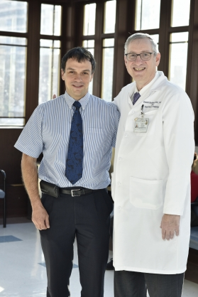 Dr. Andras Fenyves, Medical Director of Prominis Medical, left, and Dr. Shalom Buchbinder, chairman of Radiology at TBHC