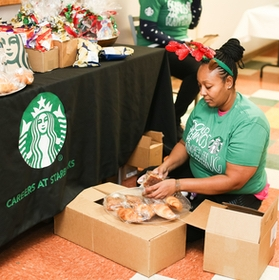Starbucks Joined The Brooklyn Hospital Center for Toy Giveaway
