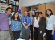 He added that having instant electronic access is especially important for children seen in multiple facilities and in foster care.  Representatives from the Center for Disease Control visited The Brooklyn Hospital Center to see our electronic vaccine registry in action. Drs. Kenneth Bromberg, chair of Pediatrics, and Stephen Ajl, clinical director of the Children's Health Center, are pictured third and fourth from left respectively.