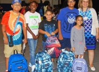 TBHC Sends Kids Back to School with Backpacks and Supplies