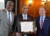 Hakeem Jeffries with TBHC VP of External Affairs Leroy Charles and TBHC President and CEO Gary G. Terrinoni