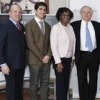 Gary G. Terrinoni, TBHC President & CEO; Julian Macrone, Fort Greene Park Conservancy; Sandra Chapman, Chief of Staff, Brooklyn Borough President's Office; Dozier Hasty, Publisher and Owner, The Brooklyn Daily Eagle