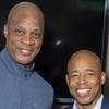 Baseball legend Darryl Strawberry and Brooklyn Borough President Eric L. Adams
